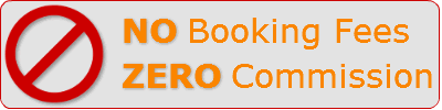 No Booking Fees, Zero Commission