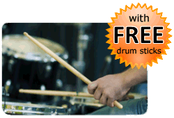 Gift bundle with free drum sticks
